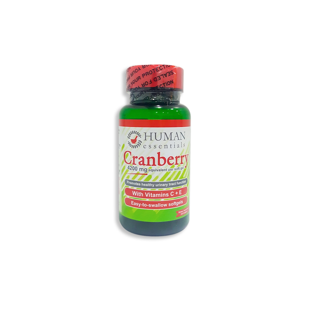 HUMAN CRANBERRY 4200 MG 100 SOFT GELS