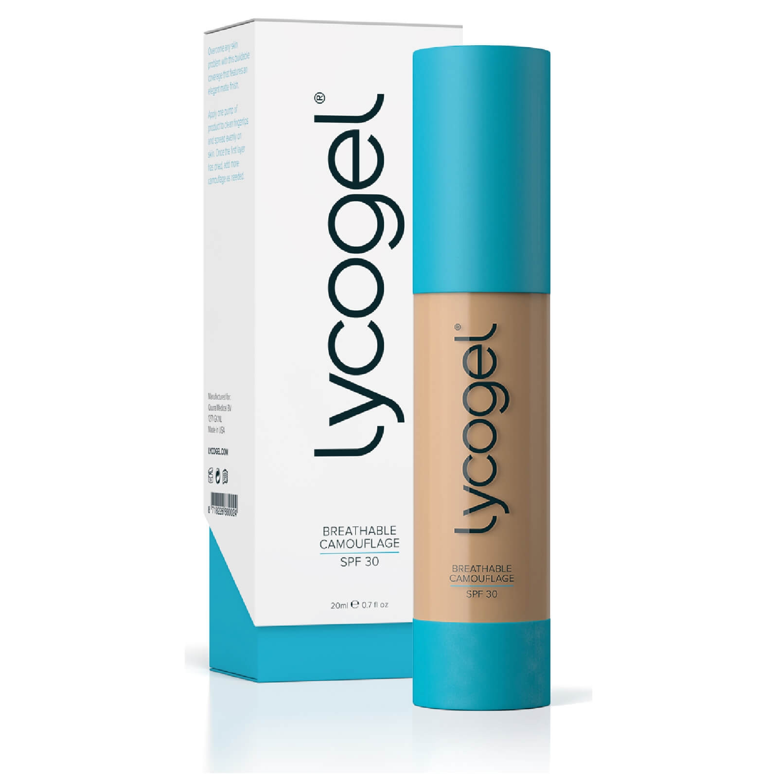 LYCOGEL BREATHABLE CEMOUFLAGE PEARL 20ML