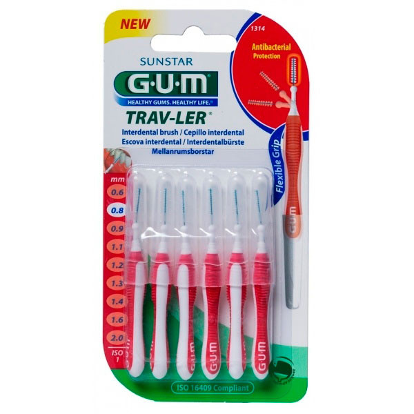GUM® Trav-ler Interdental Brush 0.8mm (1314)
