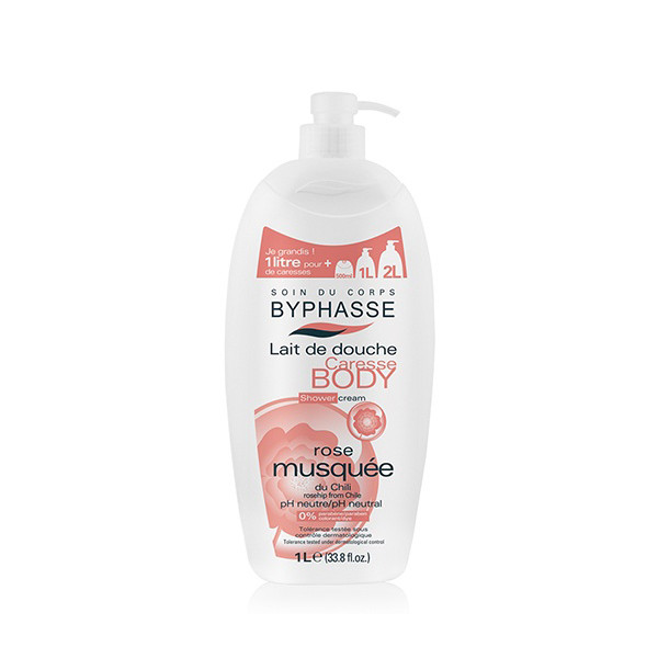 BYPHASSE Caresse shower cream rosehip (1L)