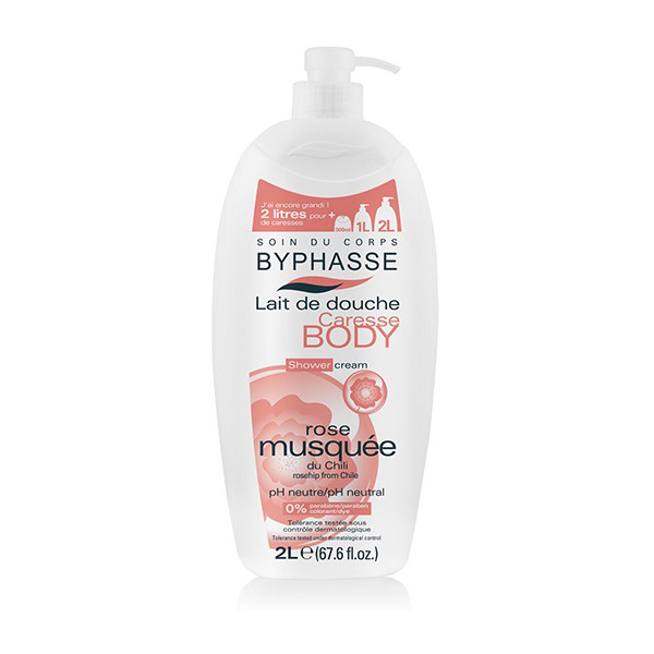 BYPHASSE Caresse shower cream rosehip (2L)