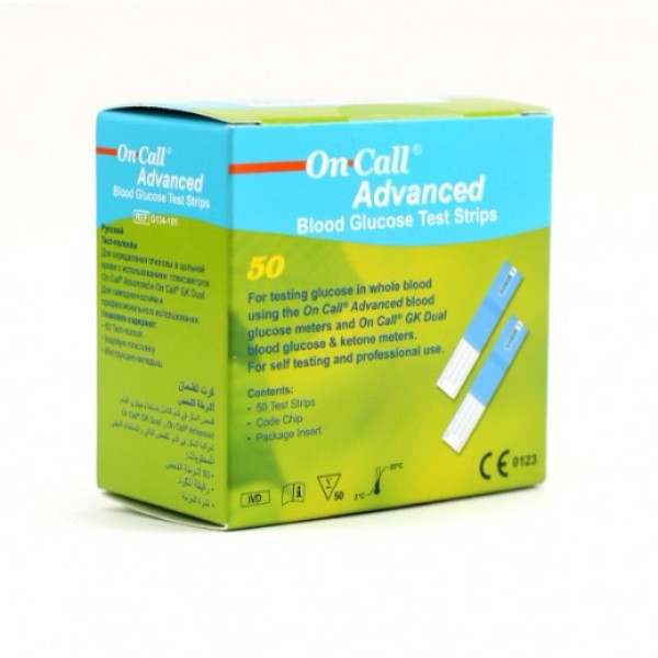 ON CALL ADVANCED 50 TEST STRIPS