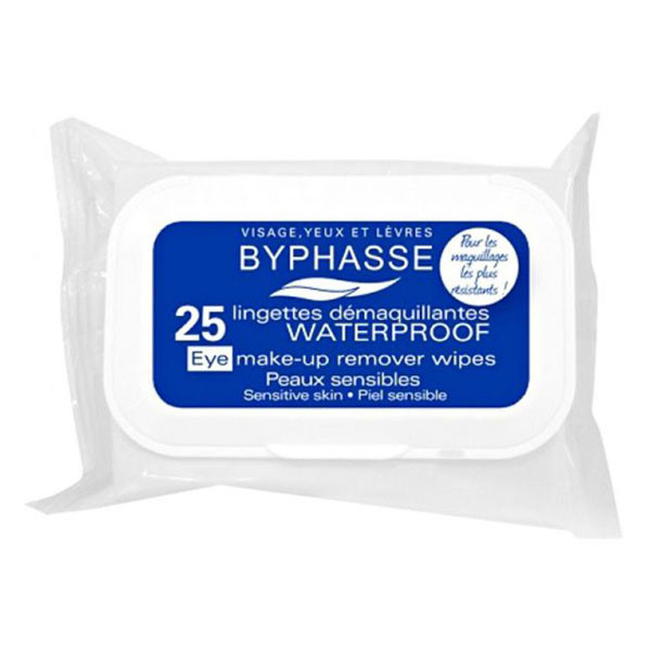 BYPHASSE Waterproof make-up remover wipes