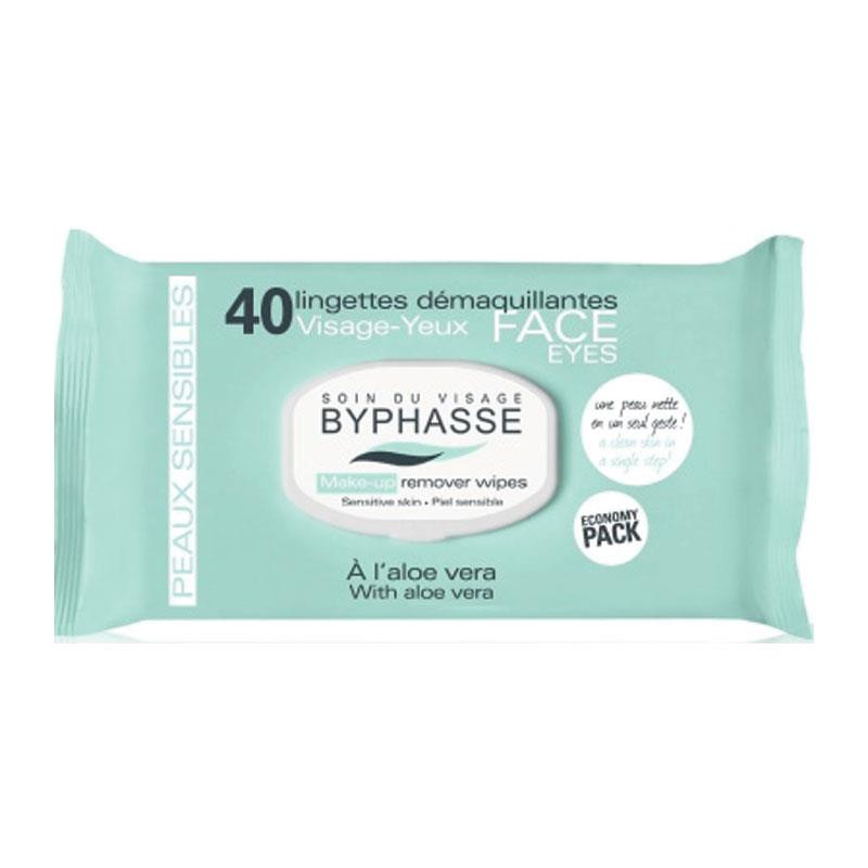 BYPHASSE Make-up remover wipes aloe Vera 40U