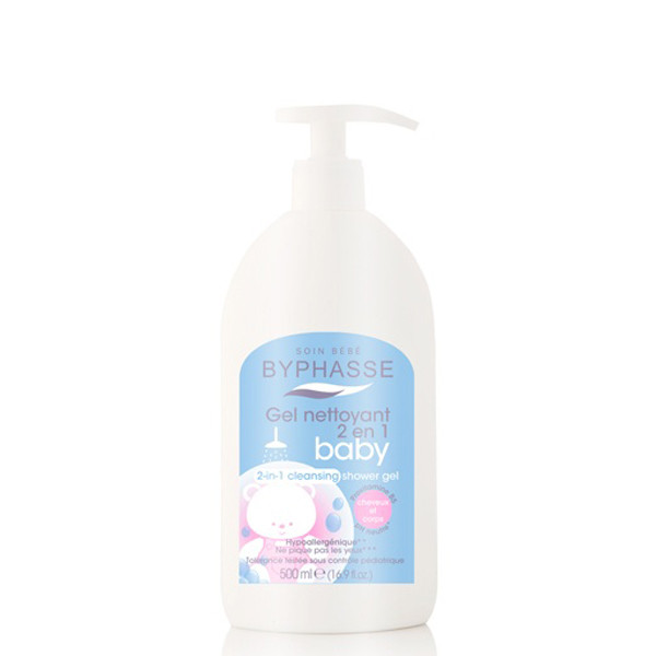BYPHASSE Gentle 2-in-1 cleansing baby shower gel hair and body .