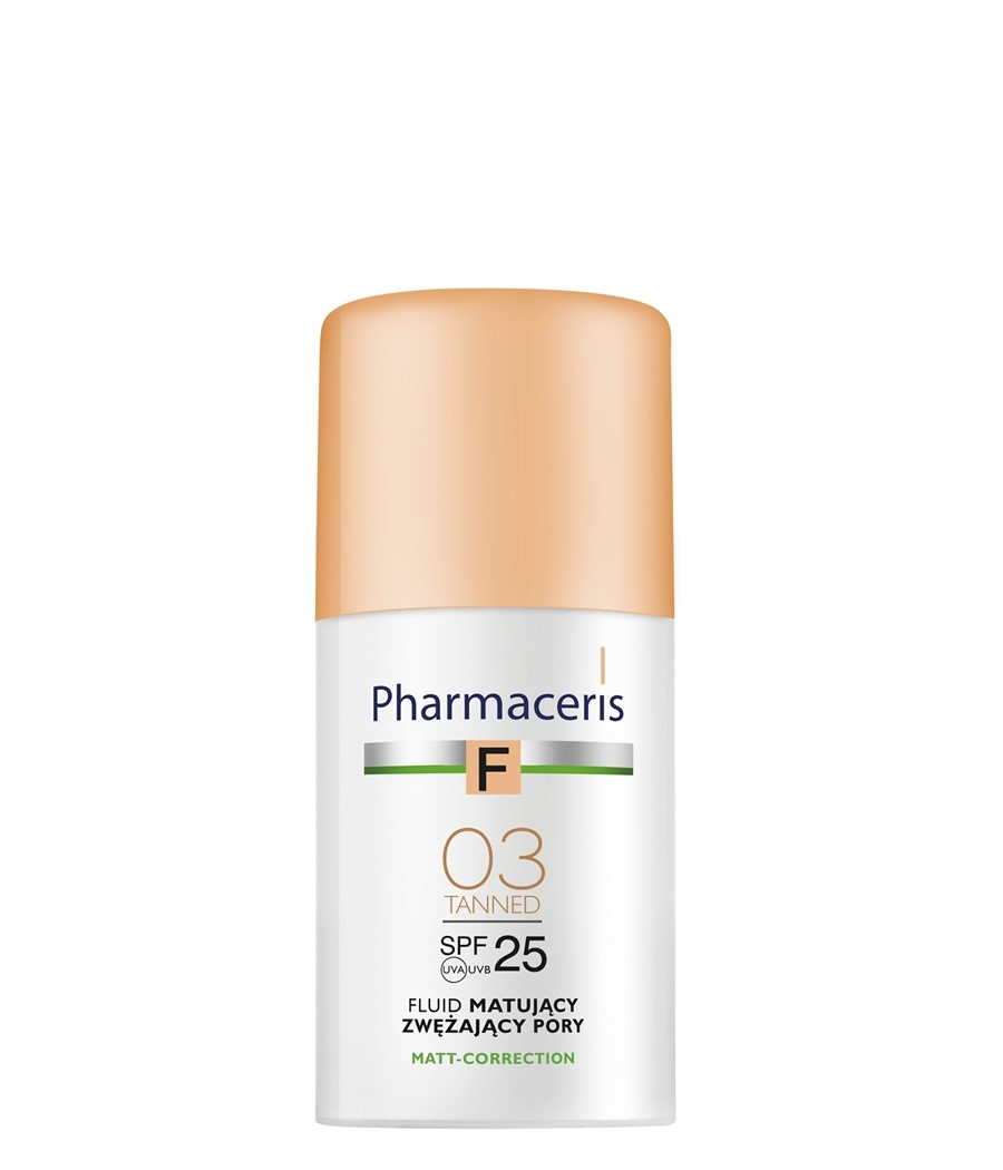 PHARMACERIS SPF25 MATTIFYING FOUNDATION TANNED-03