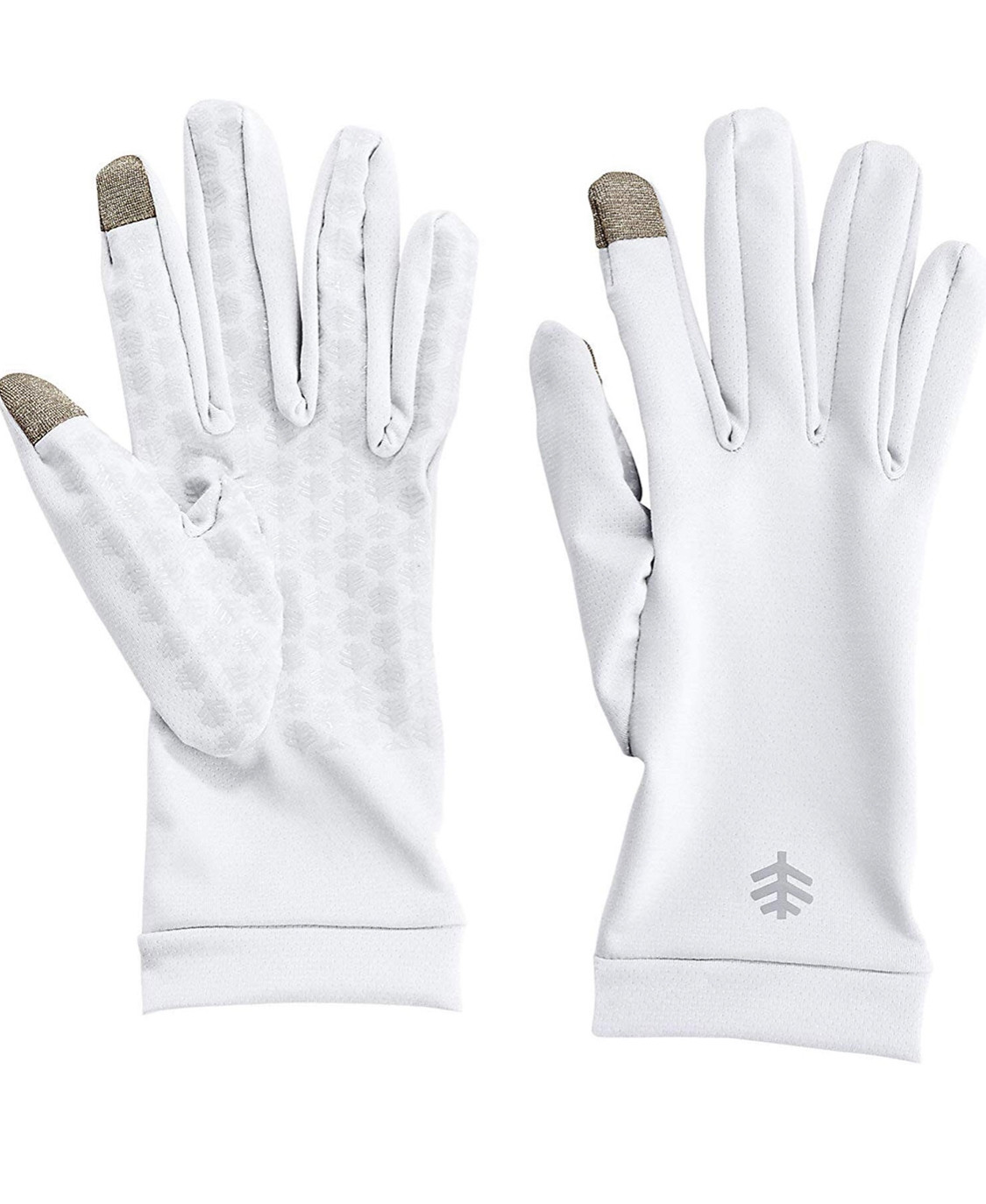 COOLIBAR UPF 50+ SUN WHITE GLOVES - LARGE