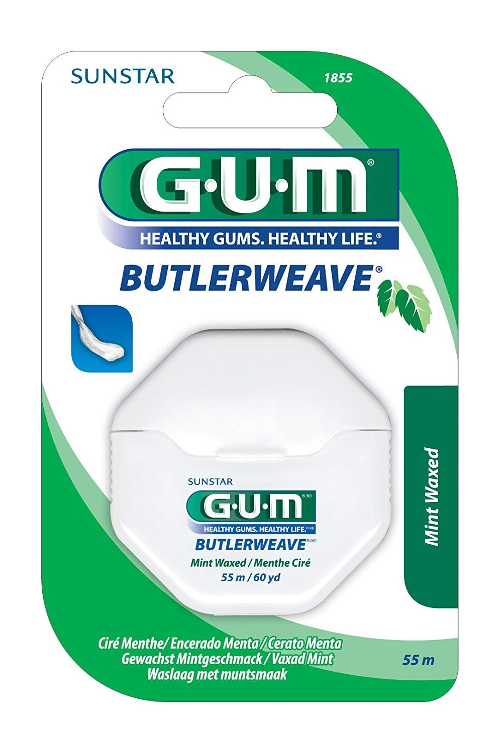 GUM FLOSS BUTLERWEAVE MINT WAXED (1855)