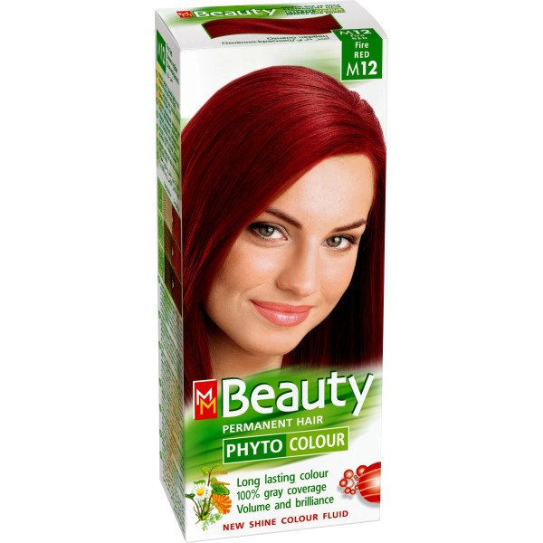 MM Beauty Permanent Hair Phyto Color Fire Red (M12)