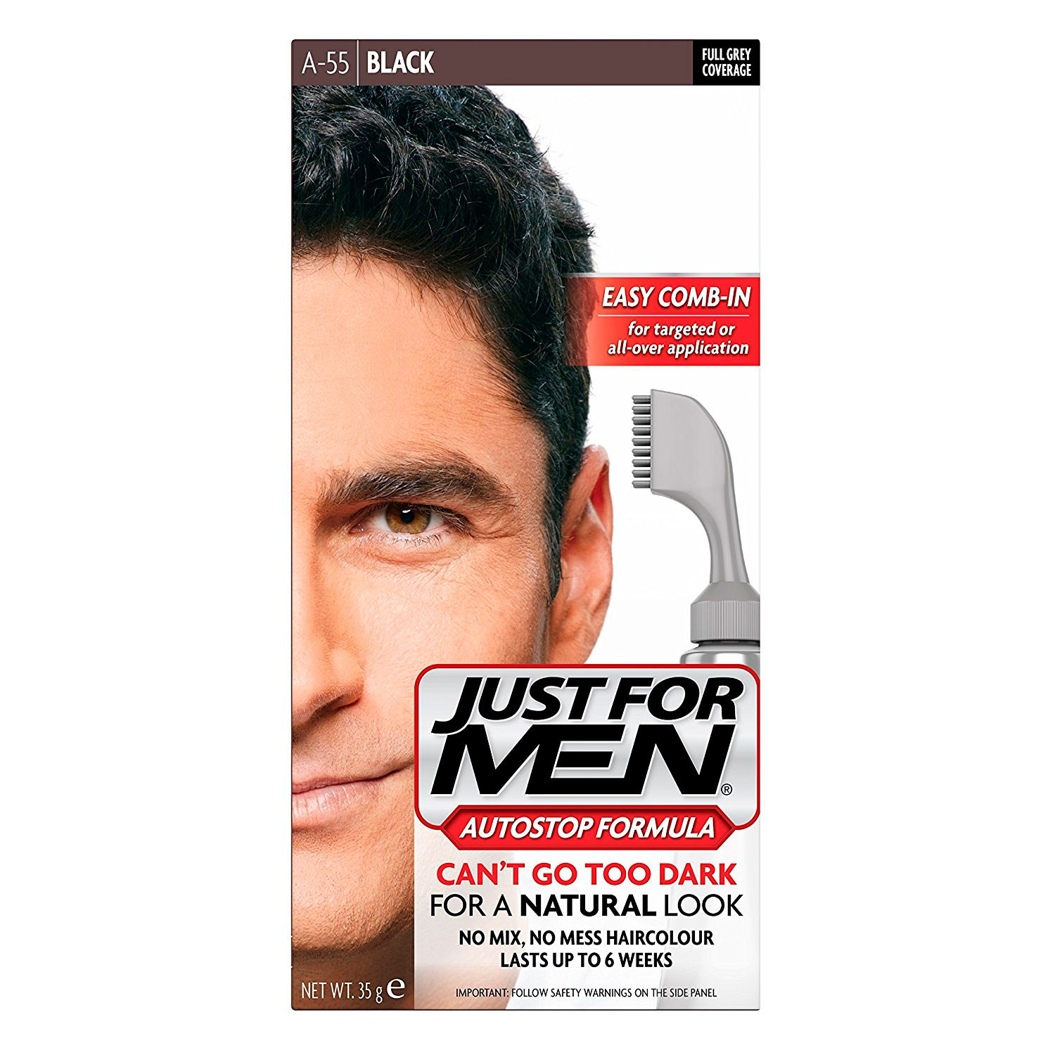 Just For Men Ultra The Gentle Haircolor Real Black A-55