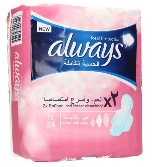 ALWAYS TOTAL PROTECTION 24PCS