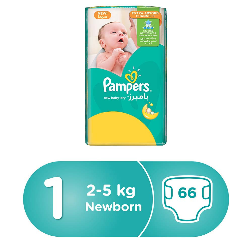 PAMPERS NEW BABY 1/66 PADS