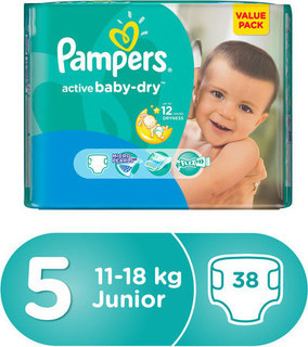 PAMPERS VALUE PACK 5/38 (11-25)KG