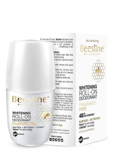 BEESLINE WHITENING ROLL-ON FRAGRANCE FREE DEODORANT 50ML