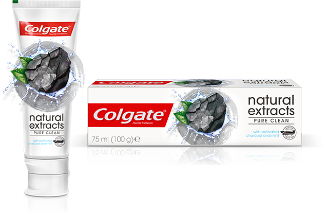 COLGATE NATURAL EXTRACTS CHAECOAL TOOTHPASTE 75ML