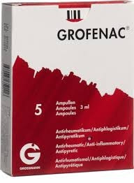 GROFENAC INJECTION 75MG/3ML 5 AMPOULES
