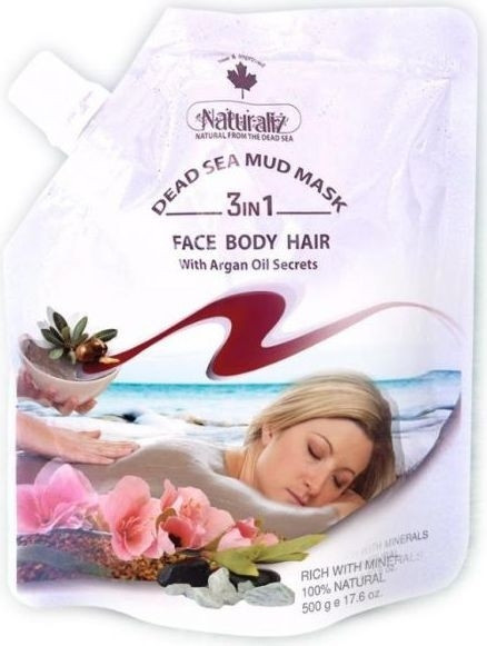 NATURALIZ DEAD SEA FACIAL MUD MASK ARGAN OIL 500G