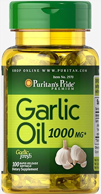 P&P GARLIC OIL 1000MG 100 CAP