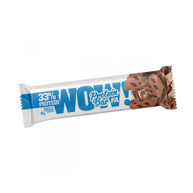 WOW COOKIES & CHOCOLAT PROTEIN BAR 45G