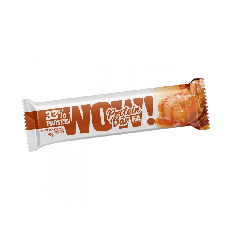 WOW SALTED PEANUTS & CARAMEL PROTEIN BAR 45G