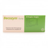 BECOZYME FORTE DRAGEES 20 TABLETS