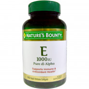 NATURE'S BOUNTY VITAMIN E-1000 IU 60CAP