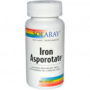 SOLARAY IRON ASPOROTATE 100CAP