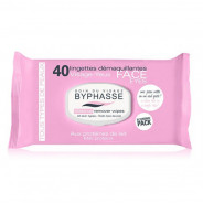 BYPHASSE Make-up remover wipes milk proteins 40U