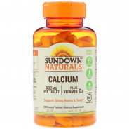SUNDOWN CALCIUM 600MG PLUS VIT-D3 120TAB