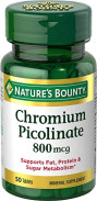 NATURE'S BOUNTY CHROMIUM 800MG 50TAB