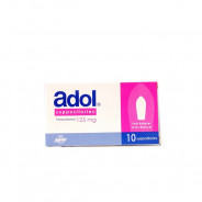 ADOL 125MG 10 SUPP