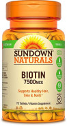 SUNDOWN BIOTIN 7500MCG 75TAB