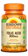 SUNDOWN FOLIC ACID 800MCG 100TAB