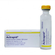 ACTRAPID 100 IU/ML VIAL 10 ML