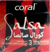 CORAL CONDOMS SALSA 3 PC
