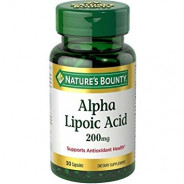 NATURE'S BOUNTY ALPHA LIPOIC ACID 200MG 30CAP
