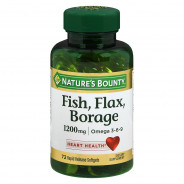 NATURE'S BOUNTY FISH, FLAX, BORAGE &OMEGA3-6-9 72CAP