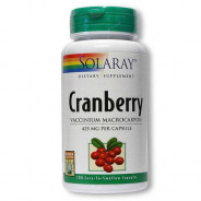 SOLARAY CRANBERRY 425MG 100CAP