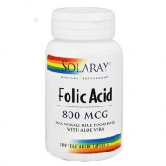 SOLARAY FOLIC ACID 800MCG 100 CAP