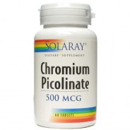 SOLARAY CHROMIUM PICOLINATE 500MCG 60TAB