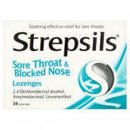 STREPSILS S. THROAT & BL. NOSE 36LOZ