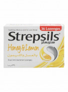 STREPSILS HONEY & LEMON 36 TABLETS